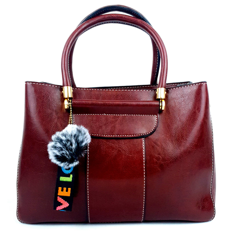 Fashionable Love PU Handbag Red