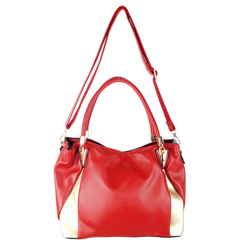 Ladies Large Handbag PU Crossbody Bag Red