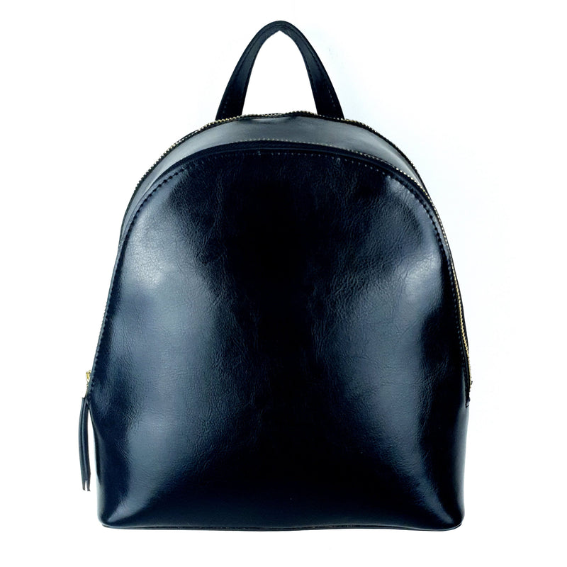 Genuine Leather Ladies Backpack Black