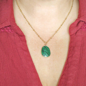 Collier Elsa Malachite synthétique