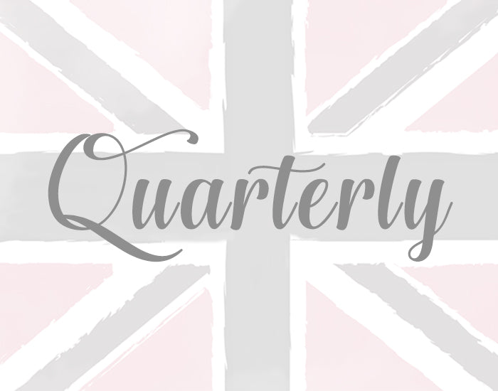 Quarterly: Pay £50 every 3 months and save over 30% on a monthly subscription!