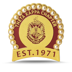 Theta Kappa Chapter of DST Brooch by Utopia Creations