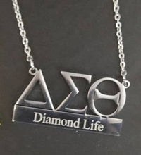Personalized ΔΣΘ Symbol+Bar Necklace - UTOPIA CREATIONS | Accessories & Gifts