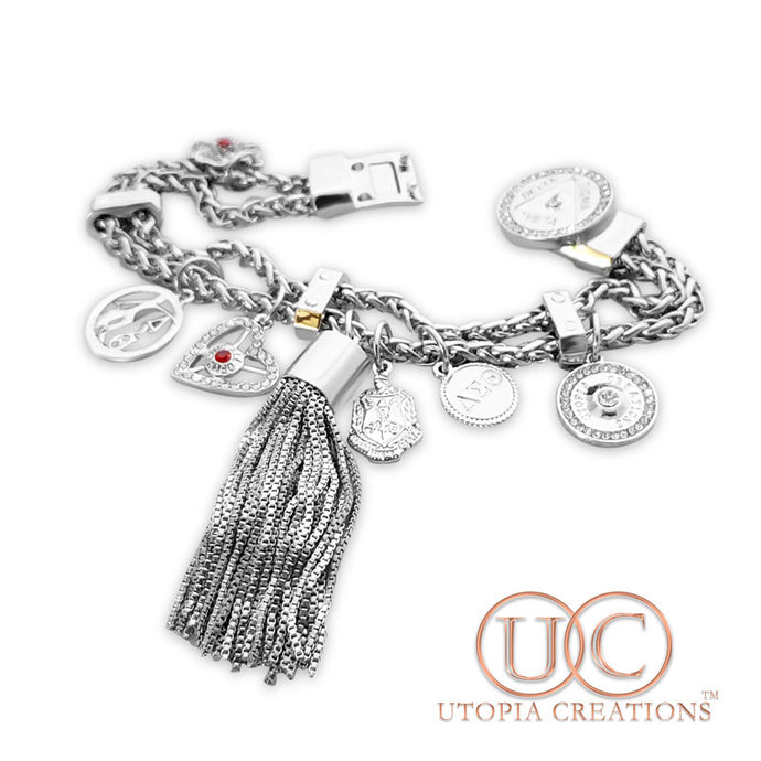 ΔΣΘ Charm Bracelet by Utopia Creations - UTOPIA CREATIONS | Accessories & Gifts