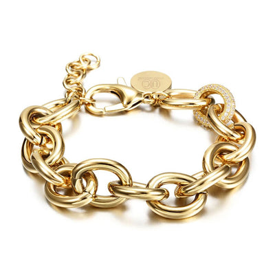 Cuban CZ Link Bracelet (Stainless Steel) - UTOPIA CREATIONS | Accessories & Gifts