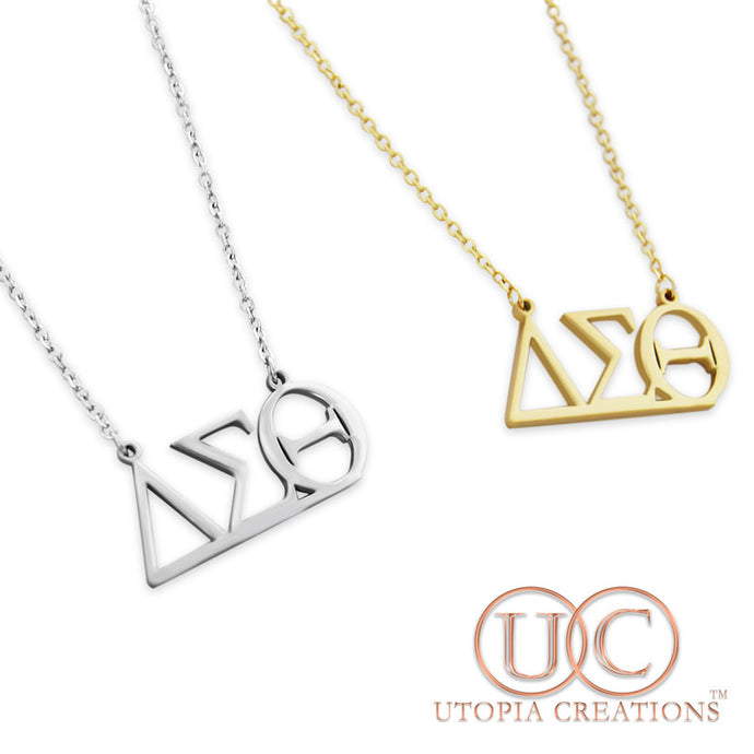 ΔΣΘ Greek Symbol Necklace