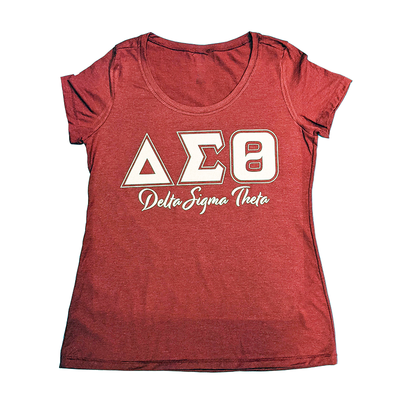 DST Vintage Crimson and Cream Scoop T-shirt by Utopia Creations