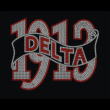 """DELTA + 1913"" Rhinestone V-Neck Tee - UTOPIA CREATIONS 