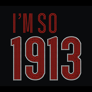 "DST ""I'm So 1913"" Rhinestone V-Neck Tee - UTOPIA CREATIONS 