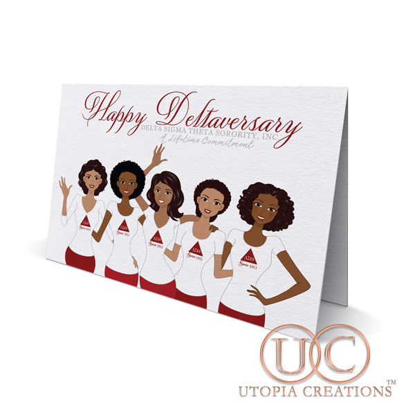 Happy Deltaversary!  ΔΣΘ Greeting Cards