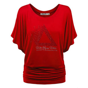 DST Pyramid Rhinestone Dolman Top - UTOPIA CREATIONS | Accessories & Gifts
