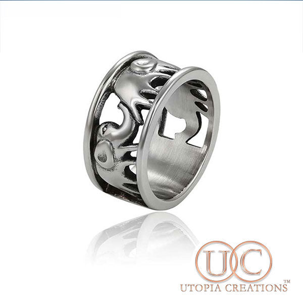 Elephant Ring (Stainless Steel) - UTOPIA CREATIONS | Accessories & Gifts