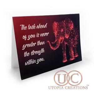 """Elephant Strength"" Greeting Cards - UTOPIA CREATIONS 