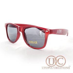 ΔΣΘ UV400 Sunglasses in Metallic Red - UTOPIA CREATIONS | Accessories & Gifts
