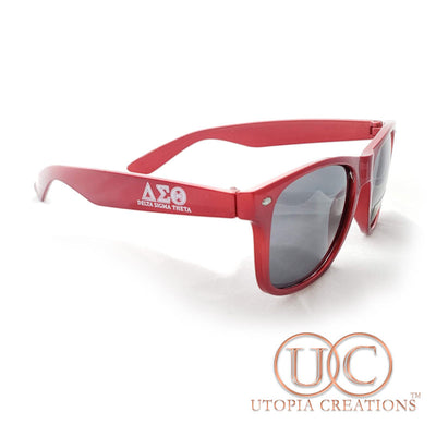 ΔΣΘ UV400 Sunglasses in Metallic Red (with imperfections) - UTOPIA CREATIONS | Accessories & Gifts