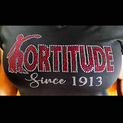 "DST ""FORTITUDE"" Rhinestone Tee - UTOPIA CREATIONS 