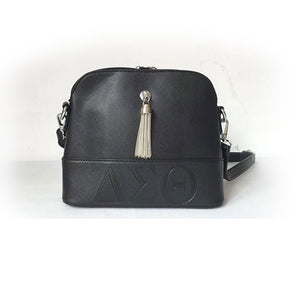 ΔΣΘ Faux Leather Crossbody Purse