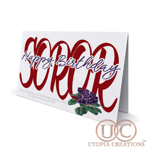 """Happy Birthday Soror"" Greeting Cards"