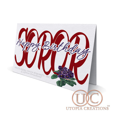 """Happy Birthday Soror"" Greeting Cards - UTOPIA CREATIONS 