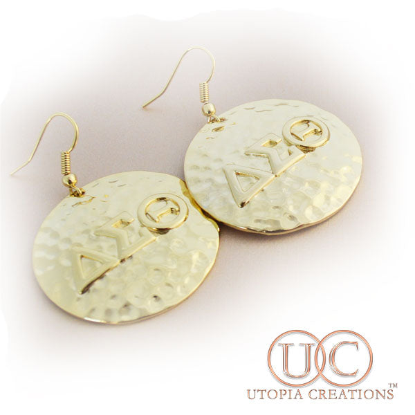 ΔΣΘ Hammered Earrings