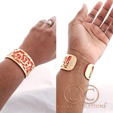 DST Stainless Steel + Leather Cuff Bracelet - UTOPIA CREATIONS | Accessories & Gifts