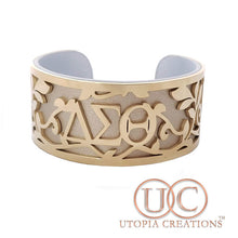 DST Stainless Steel + Leather Cuff Bracelet