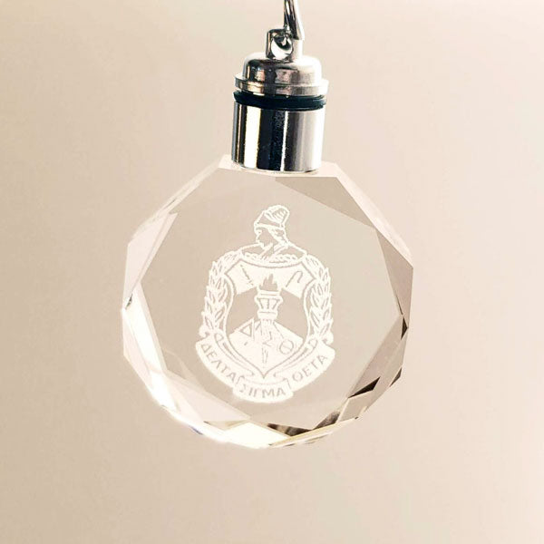 ΔΣΘ Crystal DST Crest and LED Keychain - UTOPIA CREATIONS | Accessories & Gifts