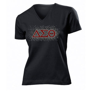 DST New Bling Rhinestone V-Neck Tee - UTOPIA CREATIONS | Accessories & Gifts