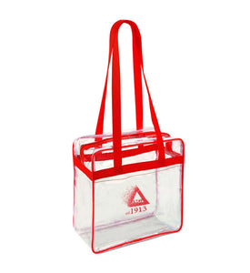 Clear Zippered Game Day Tote (Stadium/NFL Approved)