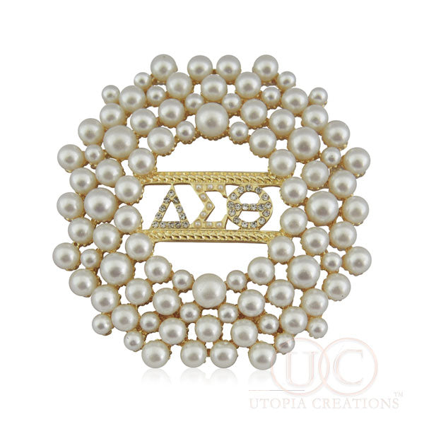 Delta Sigma Theta Pearl Brooch - UTOPIA CREATIONS | Accessories & Gifts