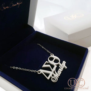 Personalized ΔΣΘ Symbol Necklace - UTOPIA CREATIONS | Accessories & Gifts