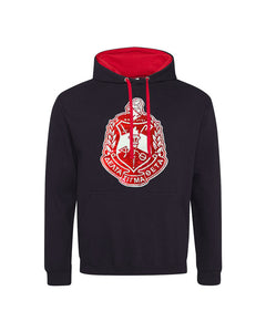 Hooded Unisex Sweatshirt with Sequin DST Crest - UTOPIA CREATIONS | Accessories & Gifts