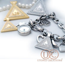 DST Pyramid Stainless Steel Pendant - UTOPIA CREATIONS | Accessories & Gifts