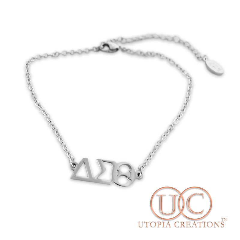 ΔΣΘ Stainless Steel Bracelet/Anklet - UTOPIA CREATIONS | Accessories & Gifts