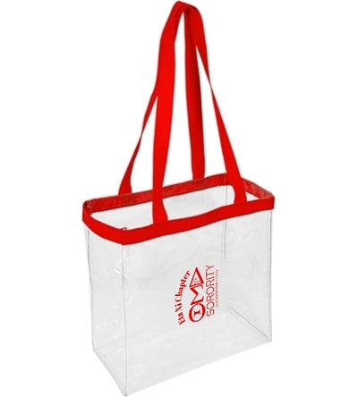 Eta Xi Chapter Clear Stadium Tote - UTOPIA CREATIONS | Accessories & Gifts