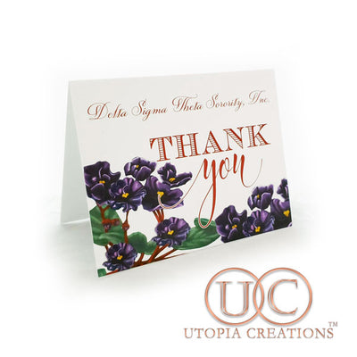 DST Violets Thank You Cards - UTOPIA CREATIONS | Accessories & Gifts