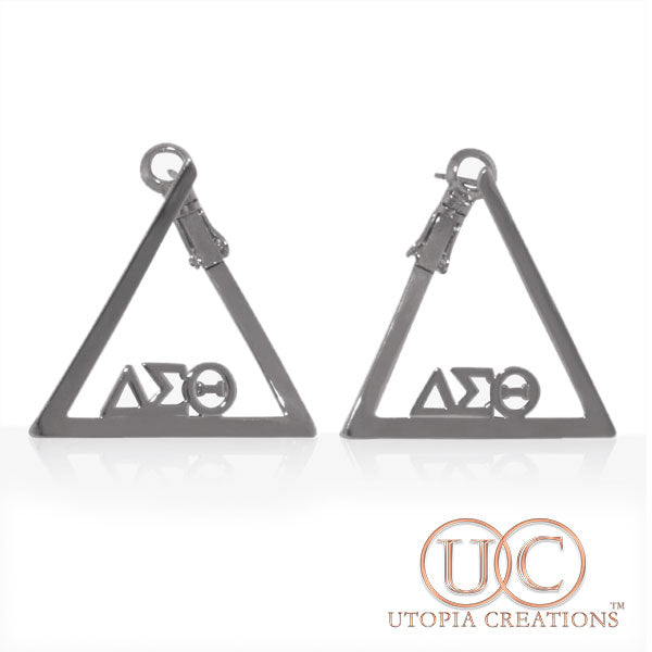 ΔΣΘ Pyramid Earrings - UTOPIA CREATIONS | Accessories & Gifts