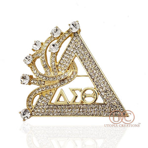 """Soaring Seven"" ΔΣΘ Pyramid Brooch - UTOPIA CREATIONS 