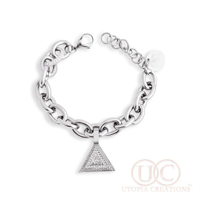 ΔΣΘ Pyramid Bracelet | Large Link (Stainless Steel) - UTOPIA CREATIONS | Accessories & Gifts
