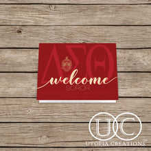 "DST ""Welcome Soror"" Cards"