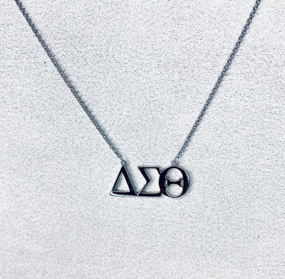 ΔΣΘ Symbol Necklace (Sterling Silver) - UTOPIA CREATIONS | Accessories & Gifts