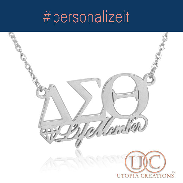 Personalized ΔΣΘ Symbol Necklace
