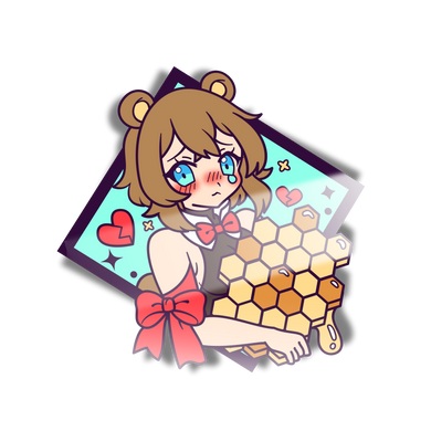 Kuma-Chan Honey Mini Sticker