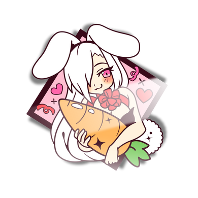 Usagi-Chan Carrot Mini Sticker