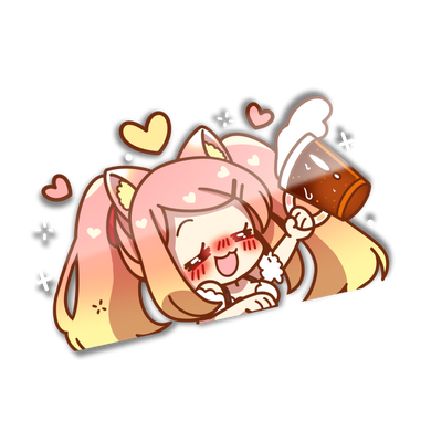 IPA-chan Large Peeker Sticker