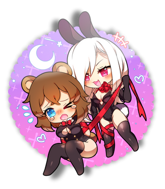 Ribbon Night Mini Sticker