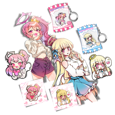 Angel Sticker/Pin/Charm Bundle