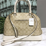Coach Signature Sierra Satchel Crossbody Bag Purse Handbag F27584 (Khaki/Chalk)