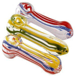 "3.5"" Peanut Glass Hand Pipe Pack of 2"