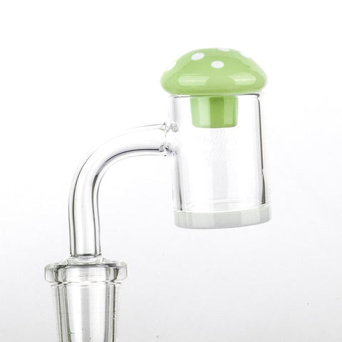 Green Mushroom Glass Carb Cap  Dab Tools For Sale  Free Shipping